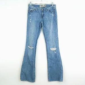 PINK Victoria Secret Distressed Boot Cut Jeans 4